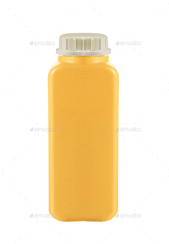 Canister with engine oil on white background - Stock Photo - Images