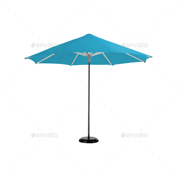 beach umbrella isolated on white - Stock Photo - Images