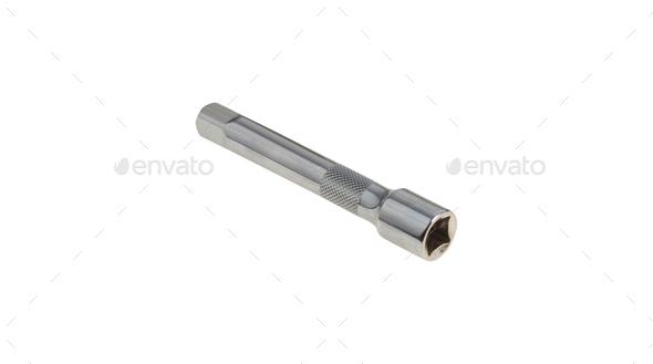 socket wrench isolated on white background - Stock Photo - Images