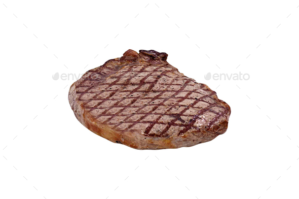 Grilled Beef Steak Isolated - Stock Photo - Images