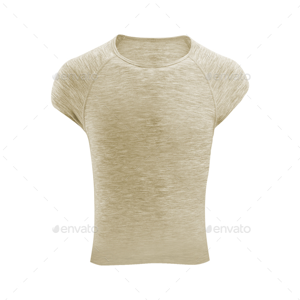 Gray tshirt isolated on white - Stock Photo - Images