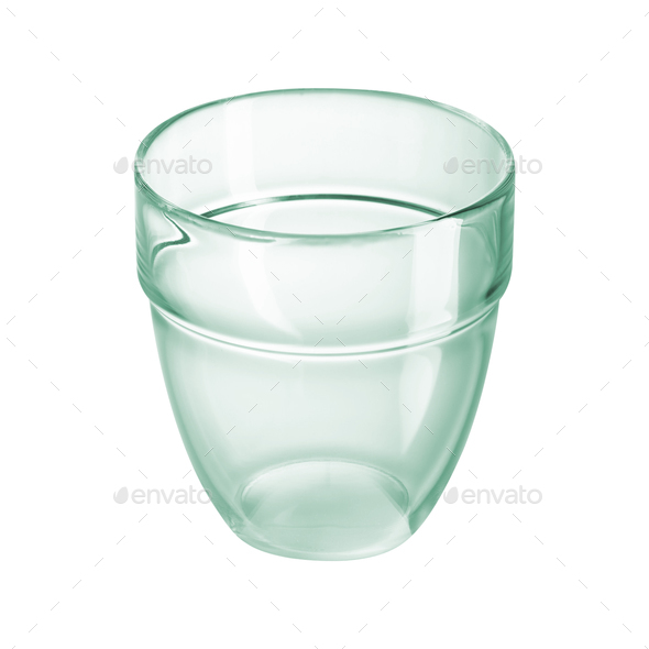 Empty glass isolated on white background - Stock Photo - Images