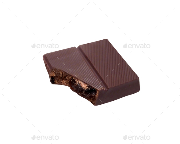 chocolate bars isolated on white background - Stock Photo - Images