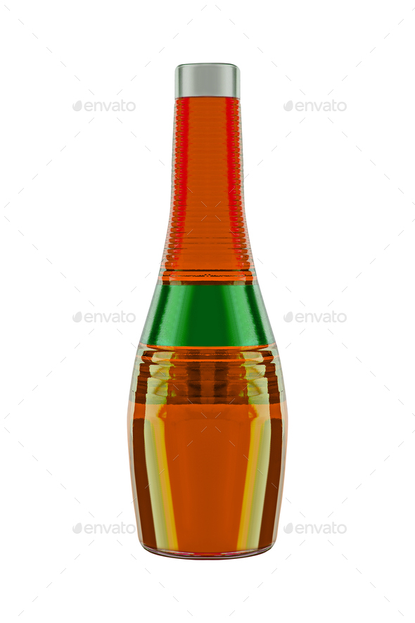 Apple juice in a glass bottle - Stock Photo - Images
