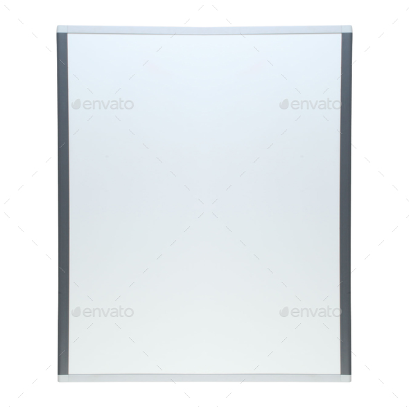 Empty whiteboard isolated - Stock Photo - Images