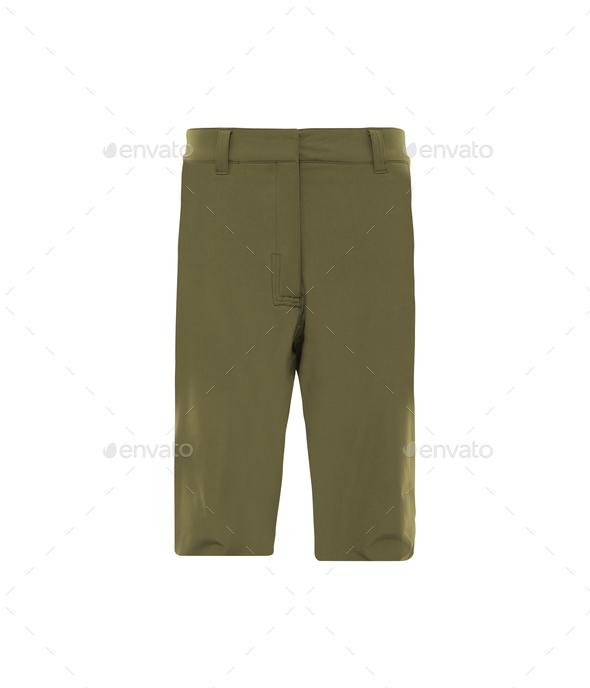 Men's shorts isolated on white background - Stock Photo - Images
