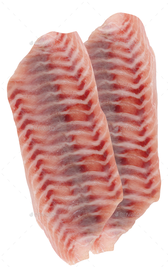 Fresh fillet isolated on a white - Stock Photo - Images