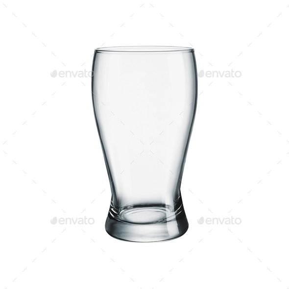 Empty glass for beer isolated - Stock Photo - Images