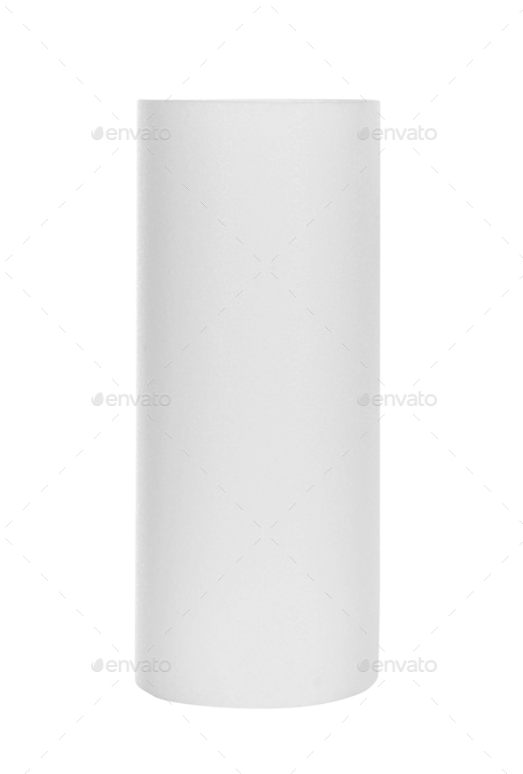 Roll of paper towels isolated on white - Stock Photo - Images