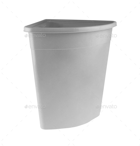 Empty Laundry Basket isolate on white background - Stock Photo - Images
