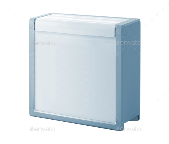 Traveling refrigerator isolated on a white background - Stock Photo - Images