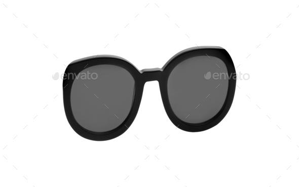 Black sunglasses isolated on white - Stock Photo - Images