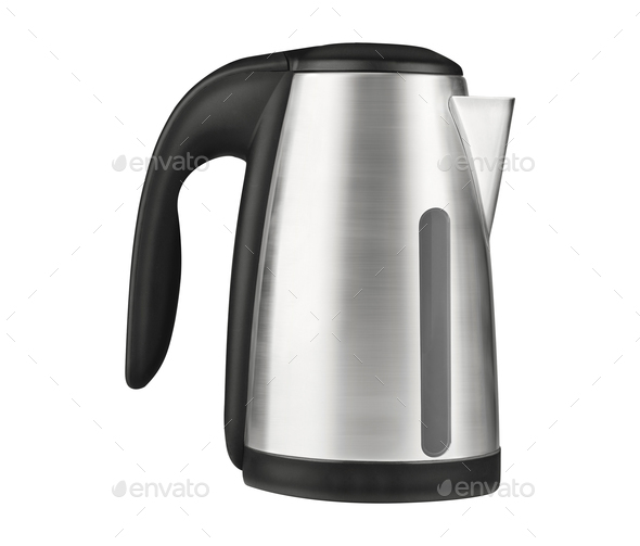 Electric kettle isolated on white background - Stock Photo - Images