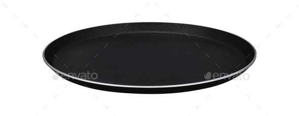 Black styrofoam food tray - Stock Photo - Images