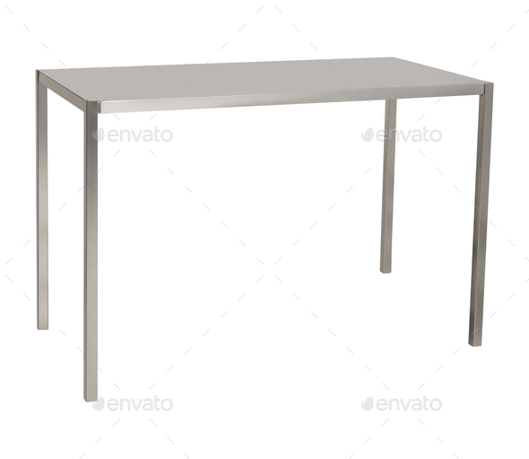 table isolated on white - Stock Photo - Images