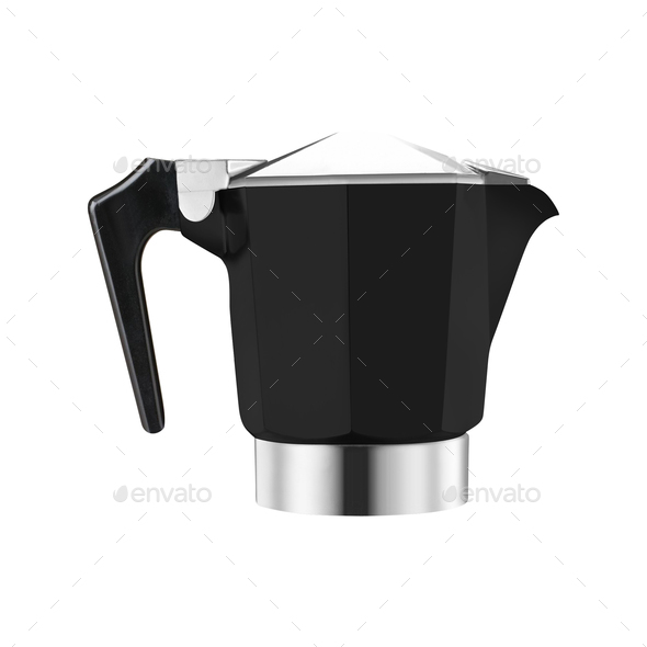 Stovetop whistling kettle isolated on white background - Stock Photo - Images