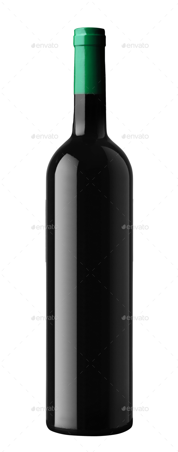 wine bottle isolated on whit? - Stock Photo - Images