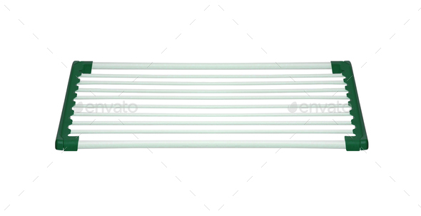 Clothes rack dryer stand isolated - Stock Photo - Images