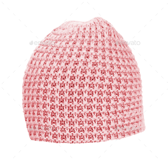 knitted hat isolated on white - Stock Photo - Images