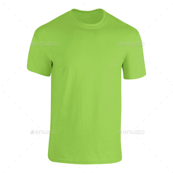 Green tshirt isolated on white - Stock Photo - Images