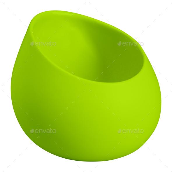 green vase isolated on white background - Stock Photo - Images