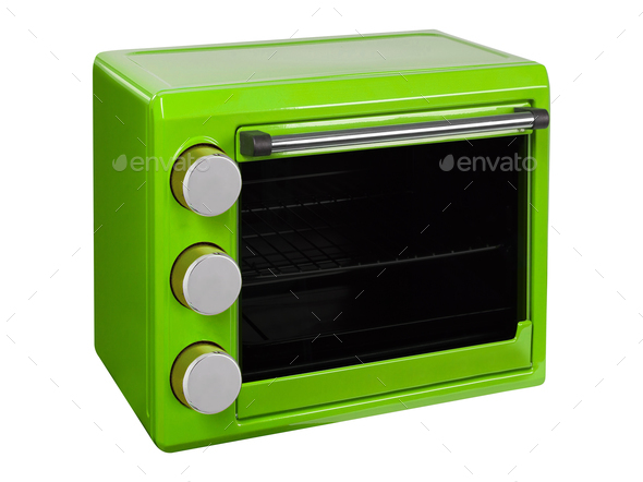 Green Microwave Oven - Stock Photo - Images