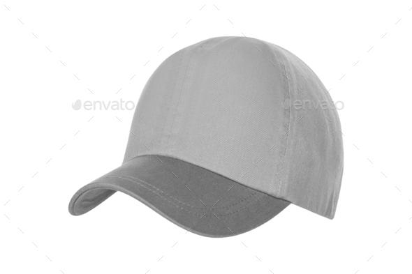 White Baseball Hat Isolated on White Background - Stock Photo - Images