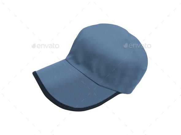 Blue Baseball Hat - Stock Photo - Images