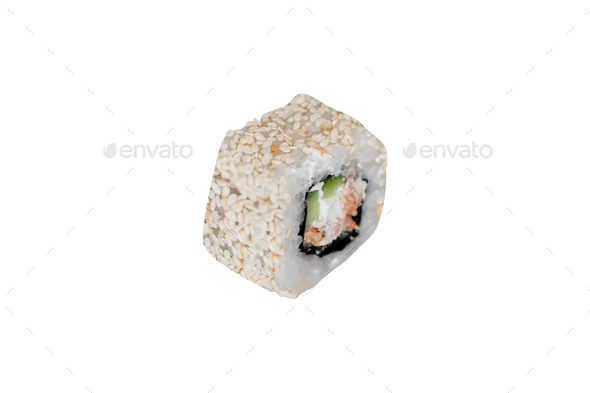 a sushi roll isolated - Stock Photo - Images