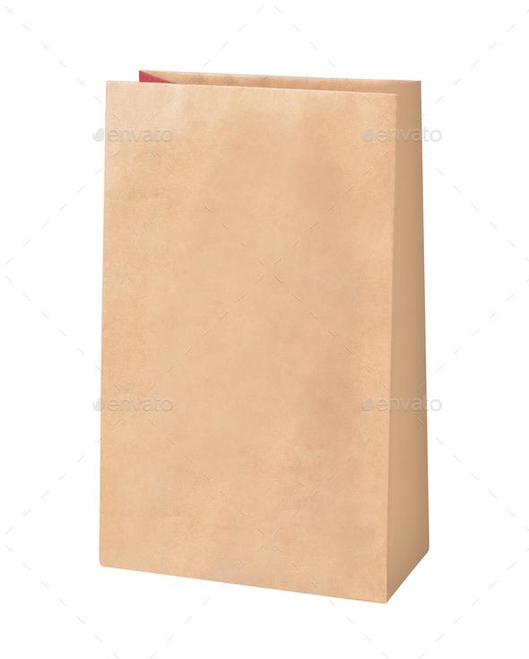 Brown paper food bag - Stock Photo - Images