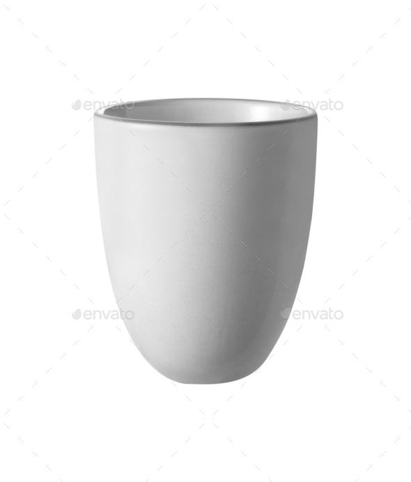 white cup isolated on white - Stock Photo - Images