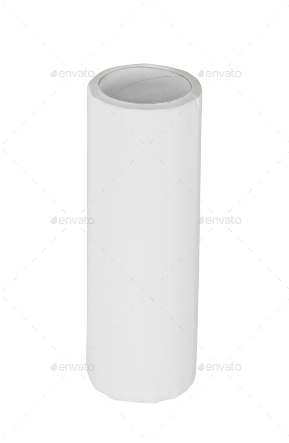 Paper towel roll isolated on white background - Stock Photo - Images