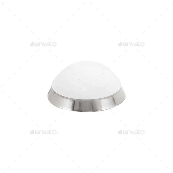 A round lamp isolated - Stock Photo - Images