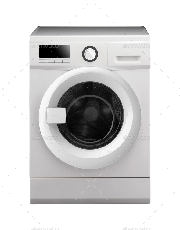 Washing machine isolated - Stock Photo - Images