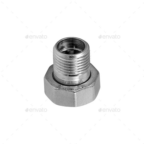 screw isolated on the white - Stock Photo - Images