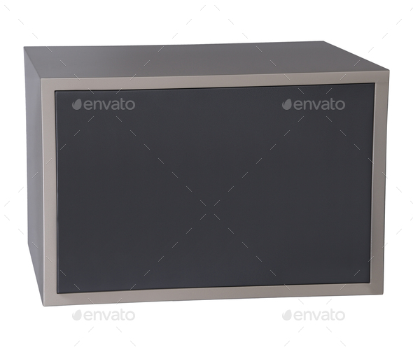 The safe isolated on white - Stock Photo - Images