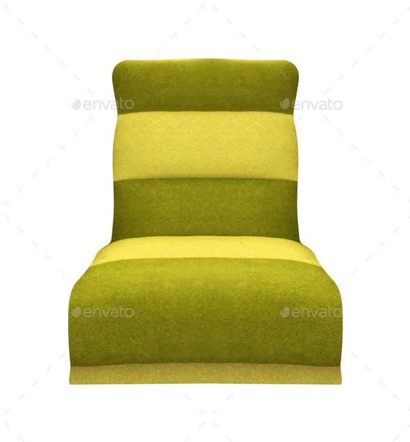 Isolated Soft green Stylish Chair - Stock Photo - Images