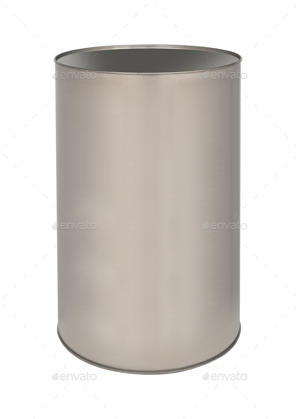 metal tin can isolated - Stock Photo - Images
