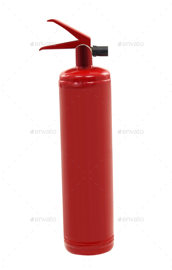 Red fire extinguisher - Stock Photo - Images