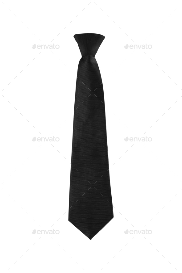 black tie on a white background isolated - Stock Photo - Images