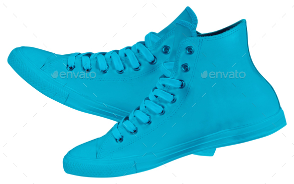 Pair of new sneakers - Stock Photo - Images