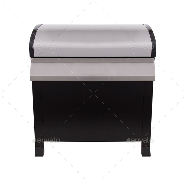 Barbecue gas grill in stainless steel - Stock Photo - Images