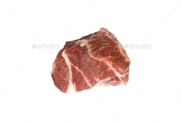 Crude meat on a white backgrounds - Stock Photo - Images