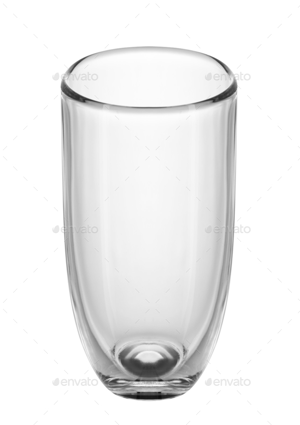 Empty glass for water, juice or milk - Stock Photo - Images