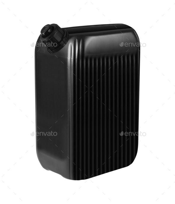 Black plastic gallon - Stock Photo - Images