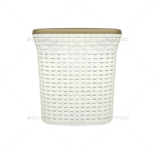 Empty Laundry Basket isolated - Stock Photo - Images