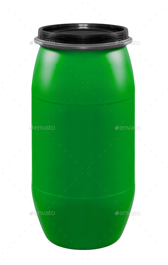 Plastic barrel isolated - Stock Photo - Images