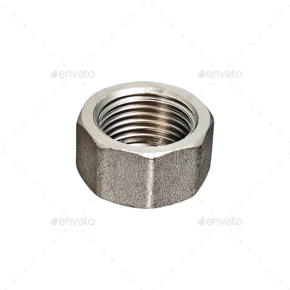 female screw isolated on white bakcground - Stock Photo - Images