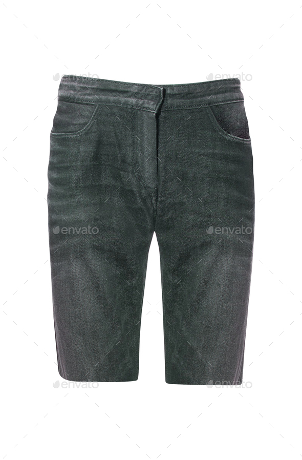 Male jeans shorts isolated - Stock Photo - Images