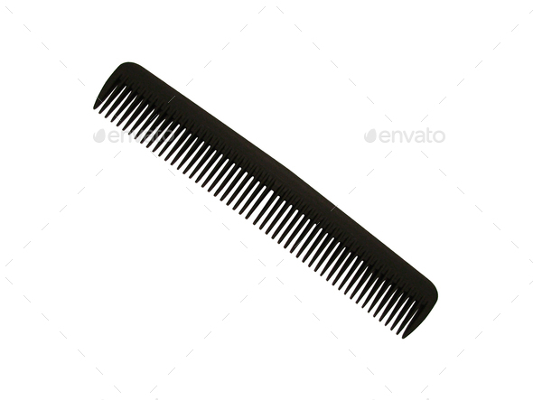 Hair comb isolated on white background - Stock Photo - Images